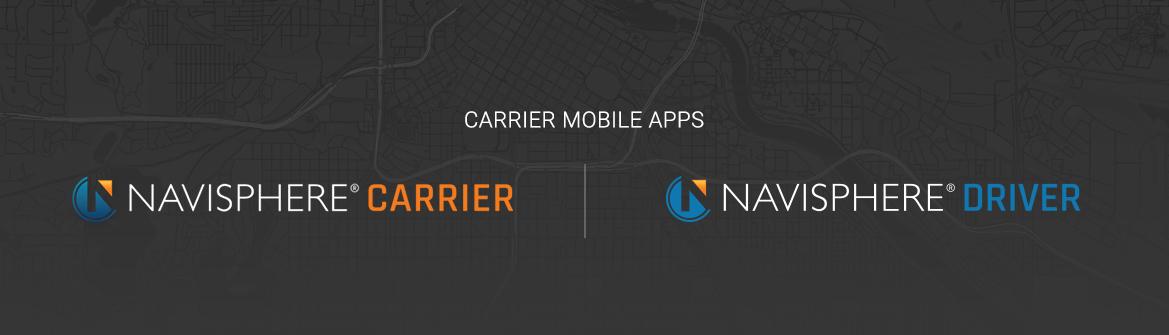 Navisphere Carrier Mobile App