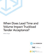 When Does Lead Time and Volume Impact Tender Acceptance?