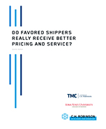 "Do ""Favored Shippers"" Really Receive Better Pricing and Service?"