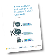 A New Model for Estimating Carbon Emissions from LTL Shipments