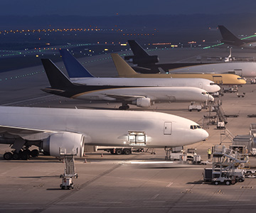 grounded airplanes used for airfreight