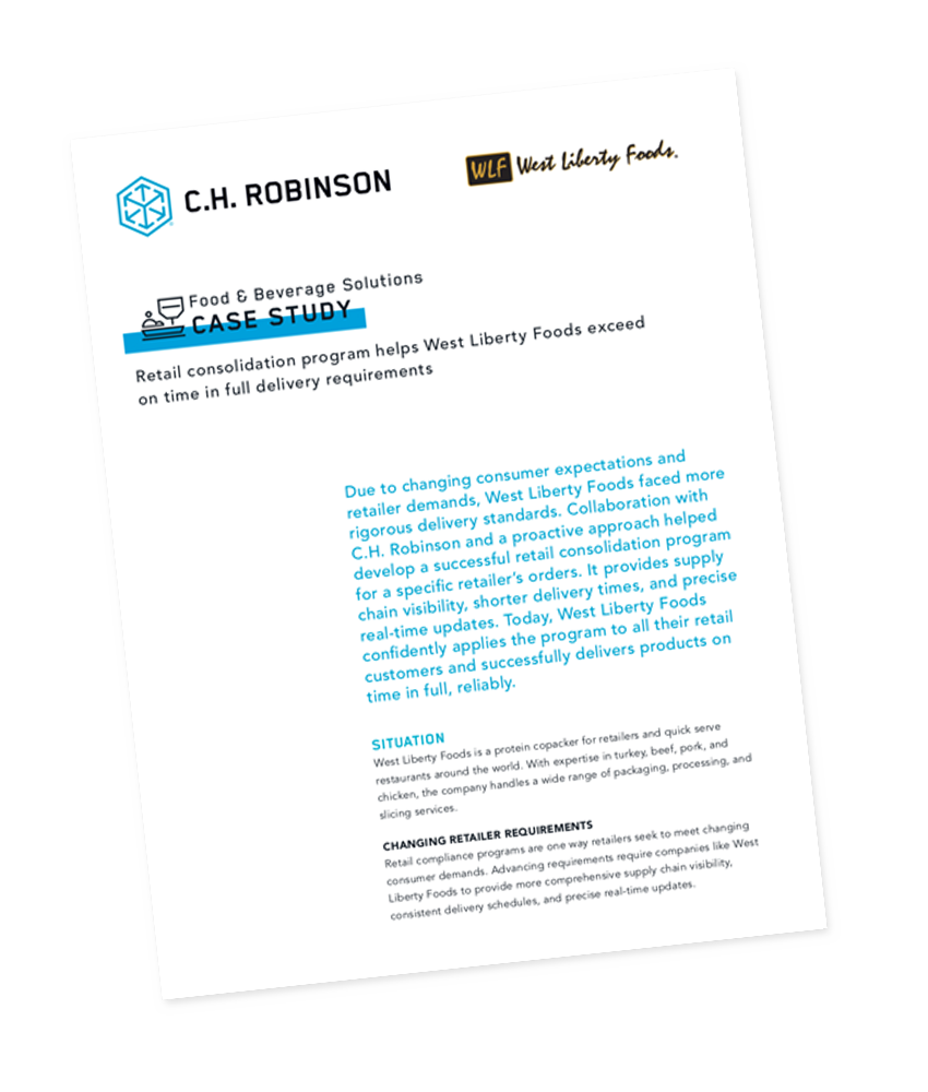 C.H. Robinson Food & Beverage Solutions Case Study - West Liberty Foods