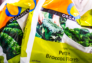 Bag of broccoli florets