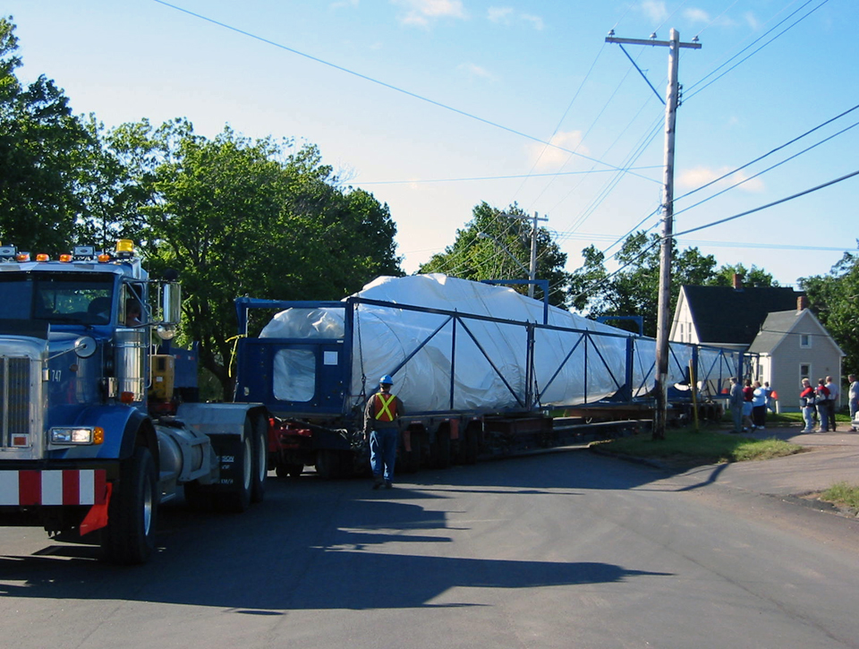 Windfarm truck delivery