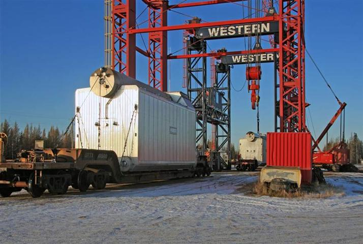 Freight container loading