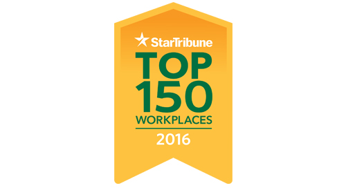 Star Tribune Top 150 Workplaces 2016